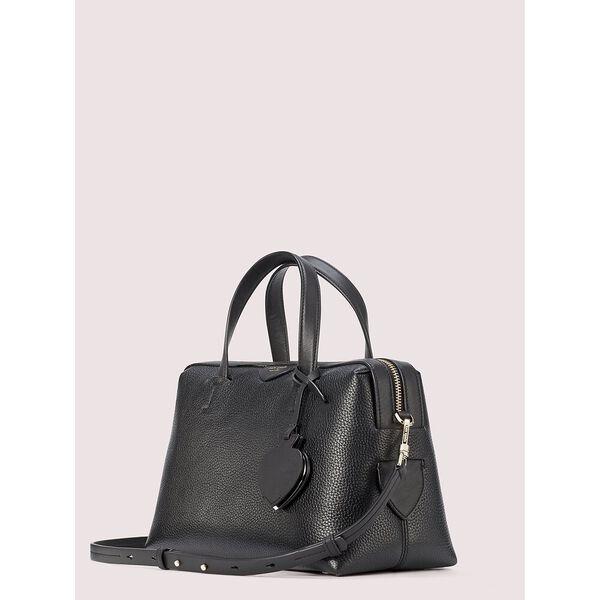 taffie medium satchel, black, hi-res