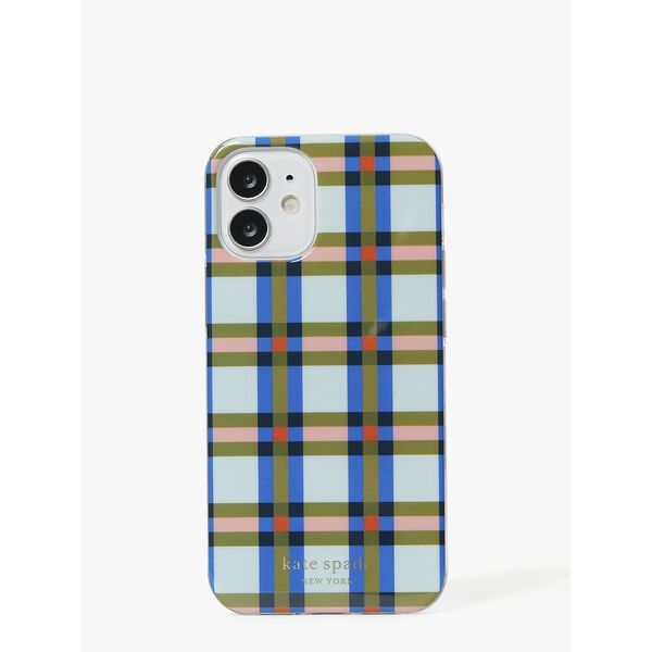 plaid iphone 12 mini case, multi, hi-res