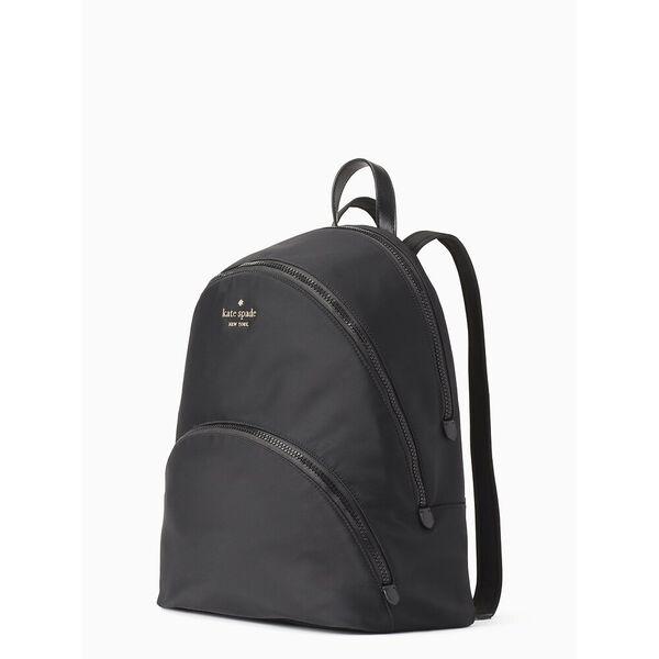 karissa nylon large backpack, black, hi-res