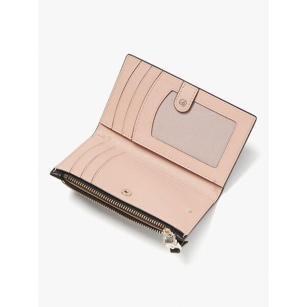 roulette small slim bifold wallet, black, hi-res