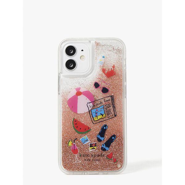 pool party liquid glitter iphone 12 mini case
