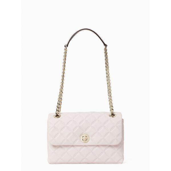 natalia medium flap shoulder bag, chalk pink, hi-res