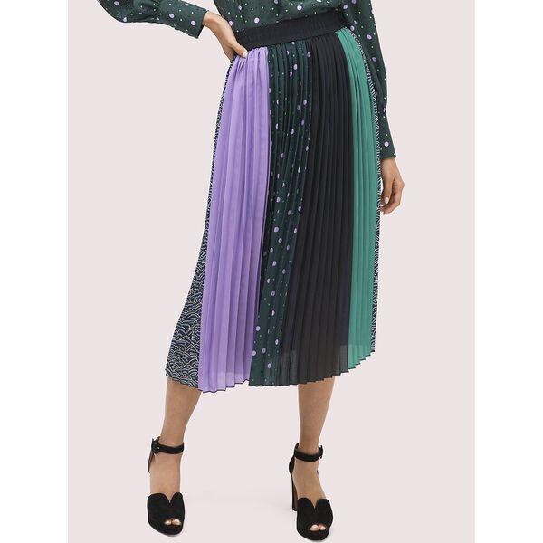 pop dots print mix skirt