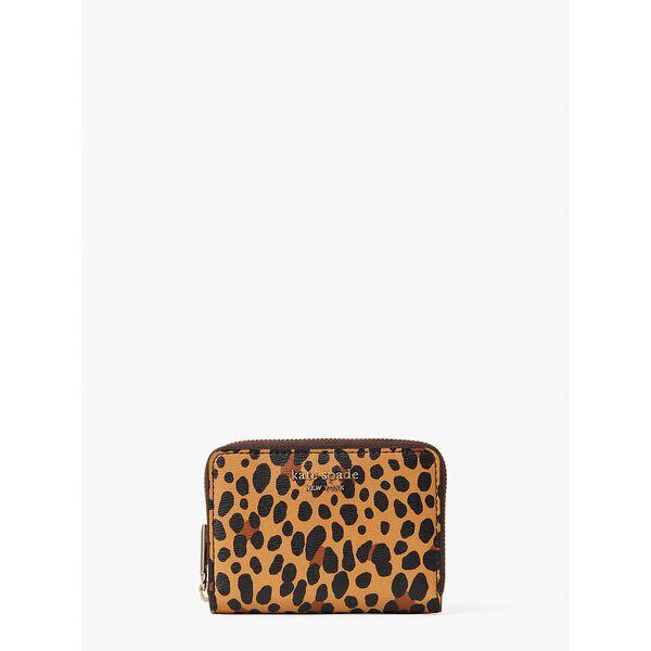 spencer leopard zip cardholder, multi, hi-res