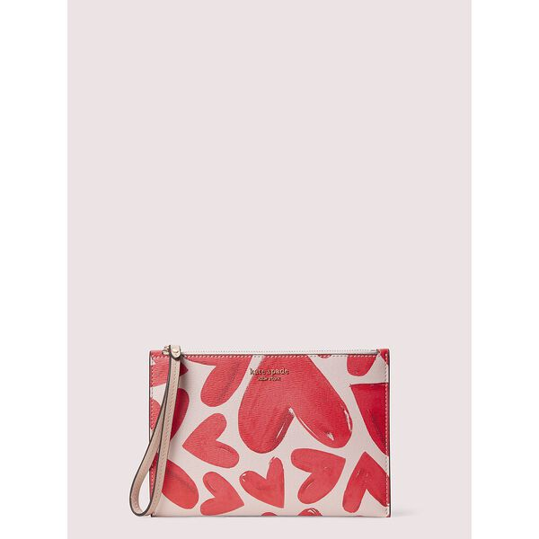 spencer ever fallen small wristlet, yucatan pink/dolce, hi-res
