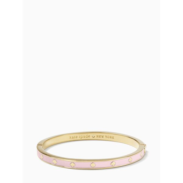 spot the spade enamel hinged bangle, LIGHT PINK, hi-res