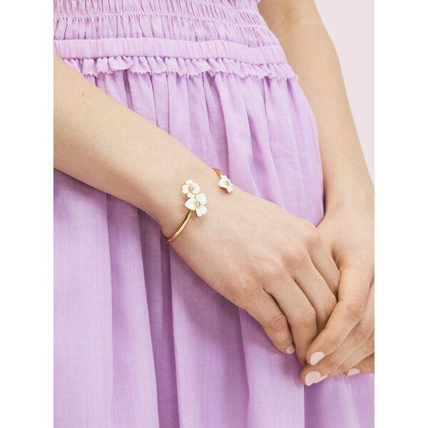 precious pansy enamel flex cuff, YELLOW MULTI, hi-res