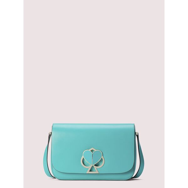 nicola twistlock medium shoulder bag, fiji green, hi-res