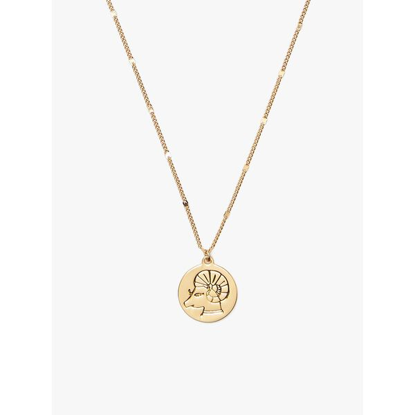 in the stars aries pendant, gold, hi-res