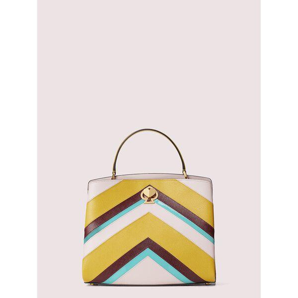 romy intarsia medium satchel