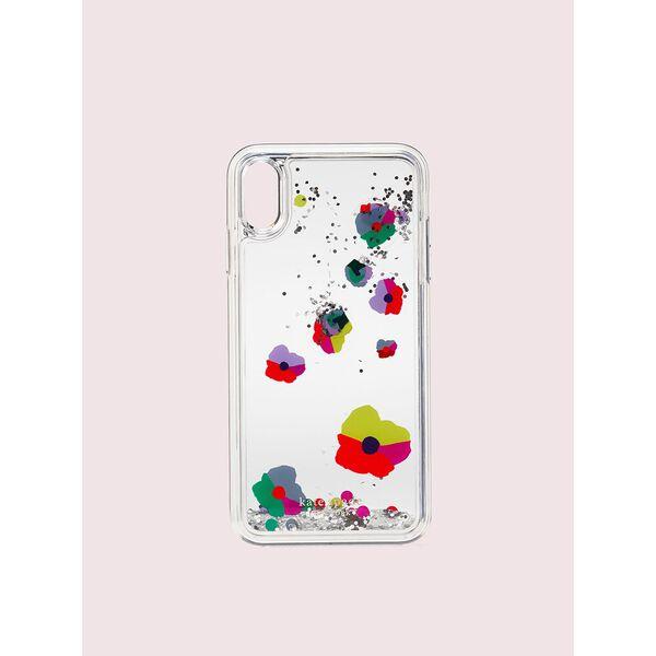 collage liquid glitter iphone xs max case, clear multi, hi-res