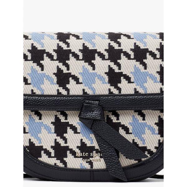 knott houndstooth medium saddle crossbody, multi, hi-res