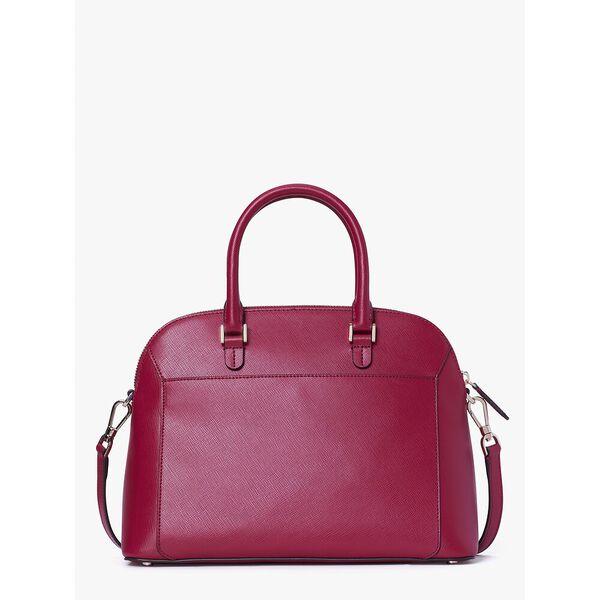 louise medium dome satchel, CERISE, hi-res