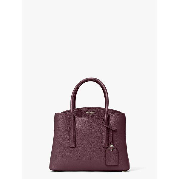 margaux medium satchel, DEEP CHERRY, hi-res