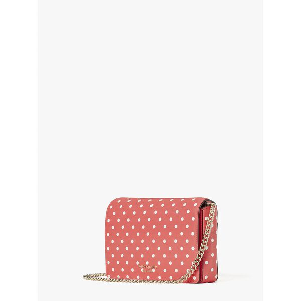 spencer dots chain wallet, peach melba multi, hi-res
