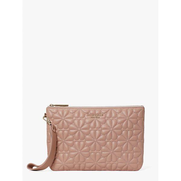 bloom pouch wristlet, flapper pink, hi-res