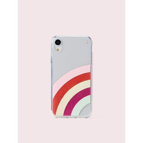 glitter rainbow iphone xr case