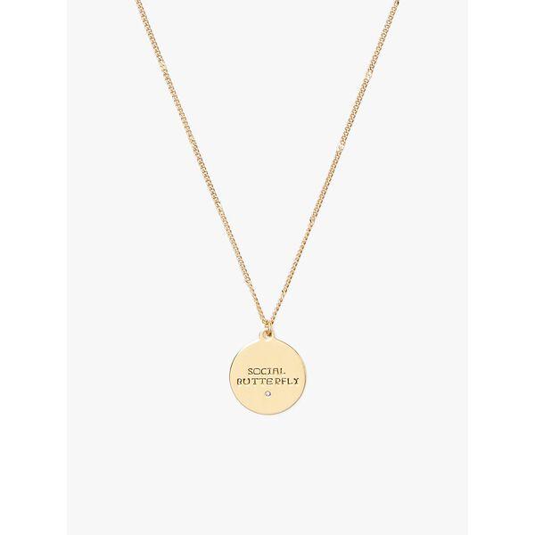 in the stars aquarius pendant, gold, hi-res