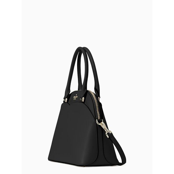 payton medium dome satchel, black, hi-res