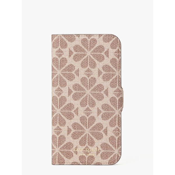spade flower coated canvas iphone 12/12 pro magnetic wrap folio case