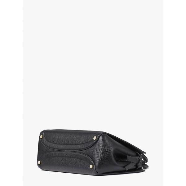 knott medium satchel, black, hi-res