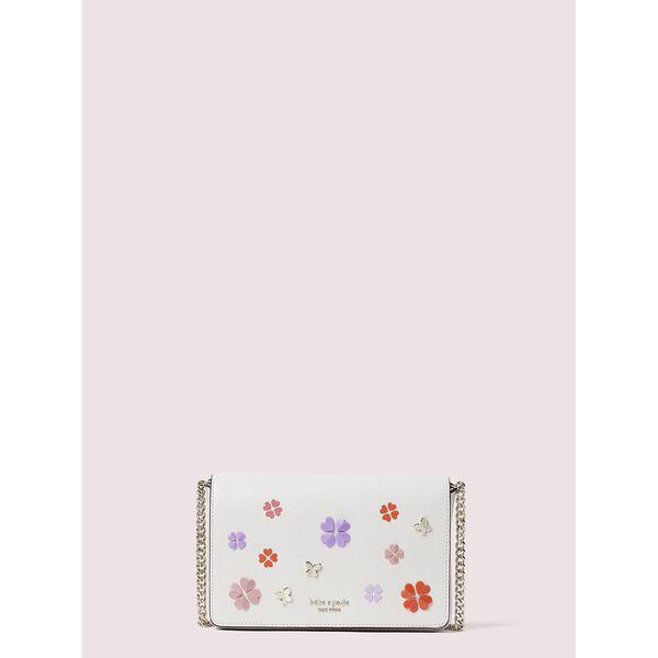 spencer spade clover butterfly chain wallet