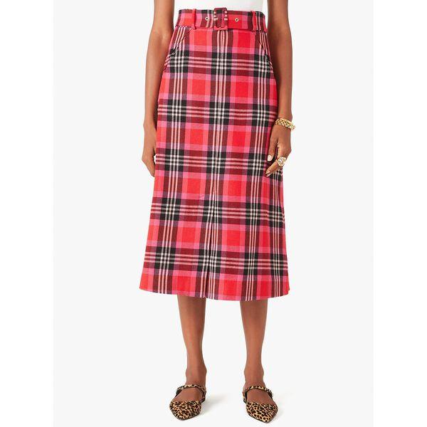 foliage plaid skirt