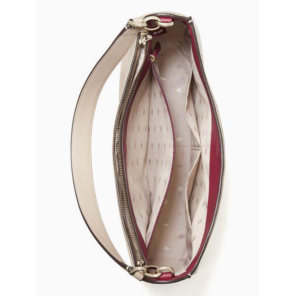 kailee medium double compartment shoulder bag, WARM BEIGE, hi-res