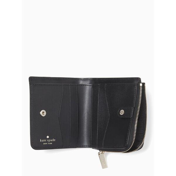 staci colorblock small l-zip bifold wallet, warm beige multi, hi-res
