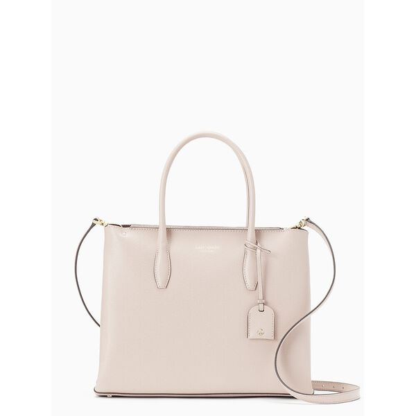 eva medium zip top satchel, rose smoke, hi-res