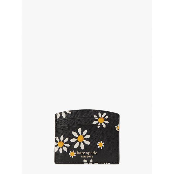 spencer daisy dots cardholder, black multi, hi-res