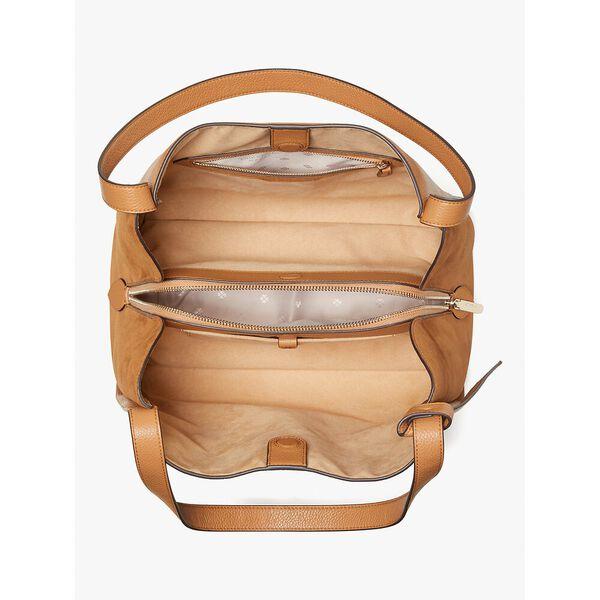 knott pebbled leather & suede large shoulder bag, bungalow, hi-res