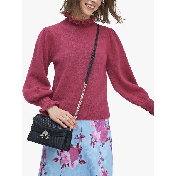 harmony quilt small shoulder bag, faded anemone, hi-res
