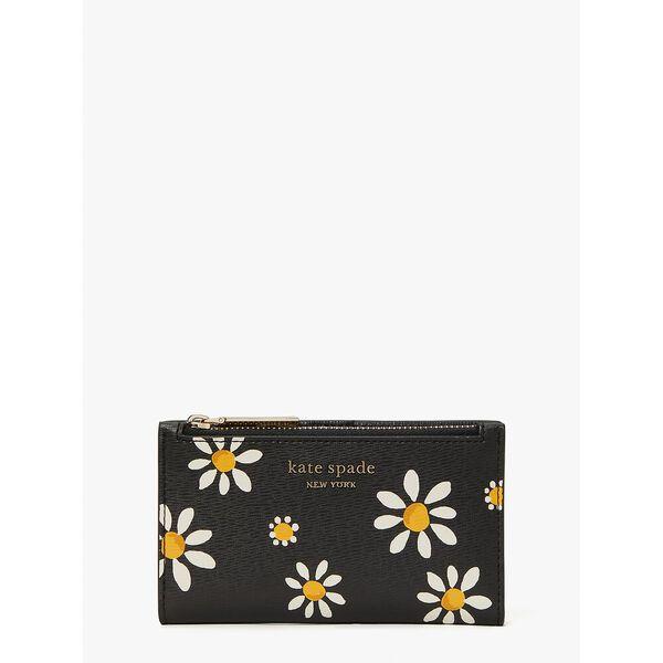 spencer daisy dots small slim bifold wallet, black multi, hi-res