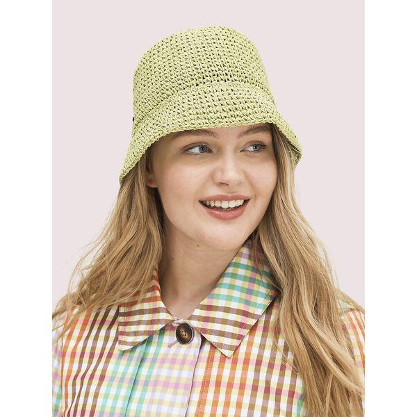 metallic crochet bucket