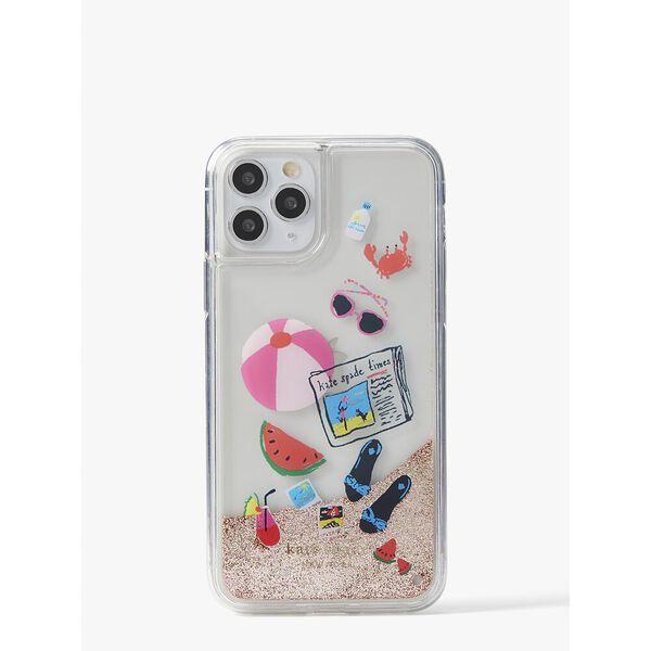 pool party liquid glitter iphone 11 pro case, multi, hi-res