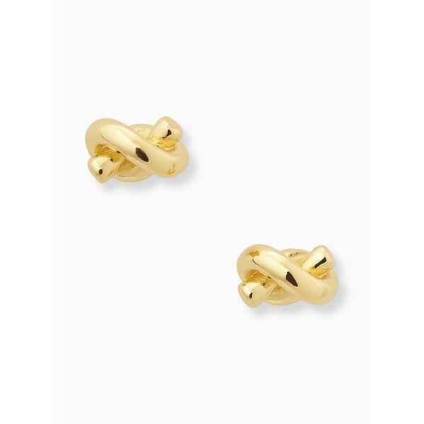 sailor's knot studs, GOLD, hi-res