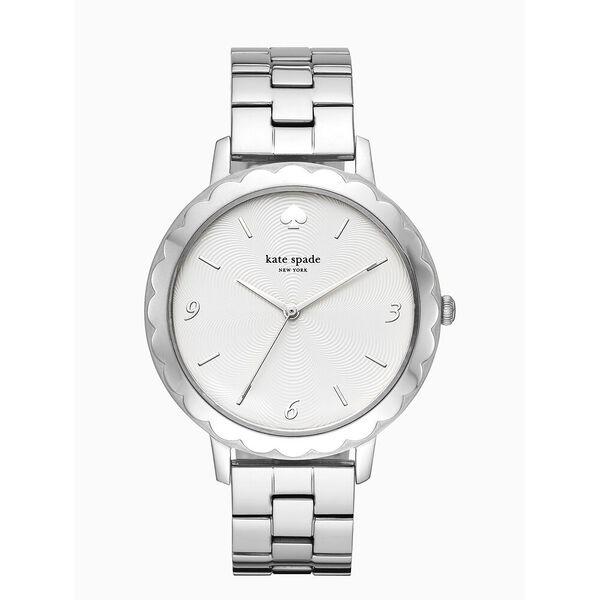 morningside scallop stainless steel bracelet watch