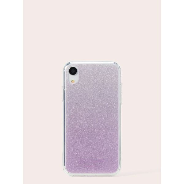 flexible tinted glitter iphone xr case