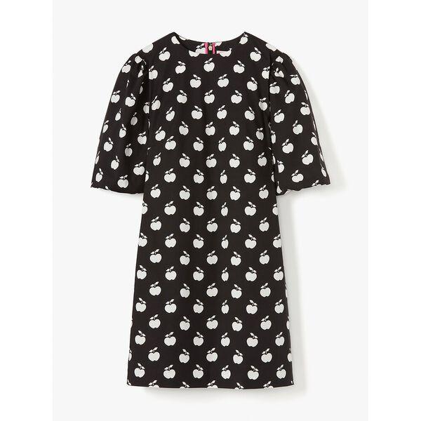 apple toss taxi dress, black, hi-res