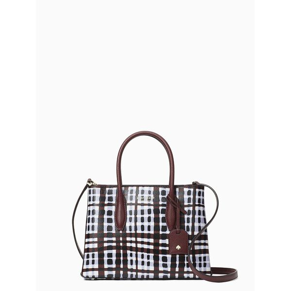 eva stripe small top zip satchel, MULTI, hi-res