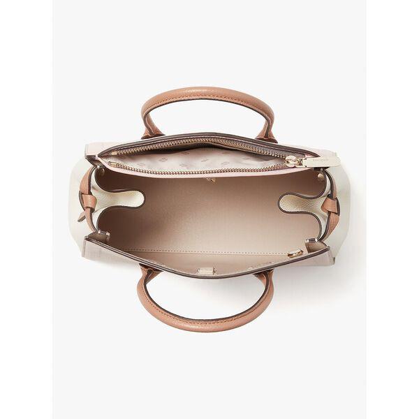 knott medium satchel, chalk pink multi, hi-res