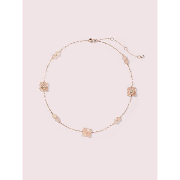 spade flower necklace, blush multi, hi-res