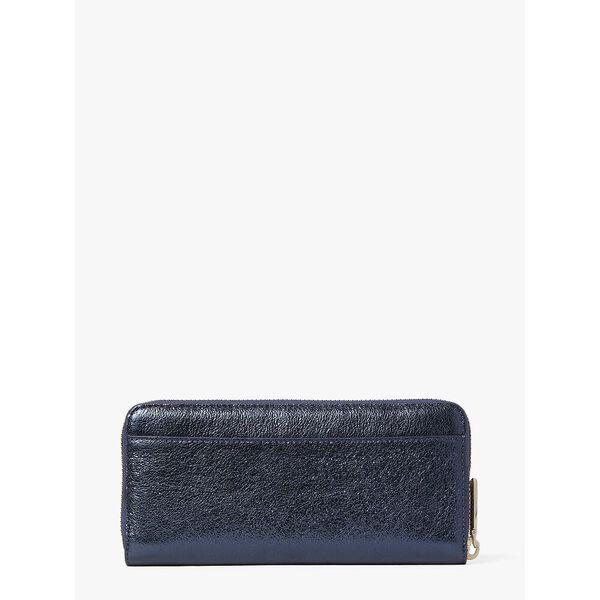 spencer metallic slim continental wallet, METALLIC NIGHT, hi-res