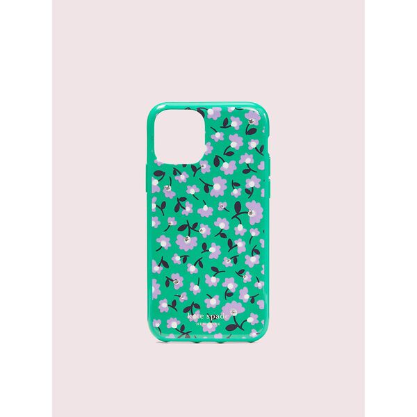 jeweled party floral iphone 11 pro case, green multi, hi-res