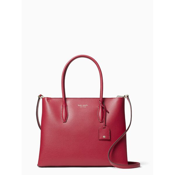 eva medium zip top satchel, red cake, hi-res