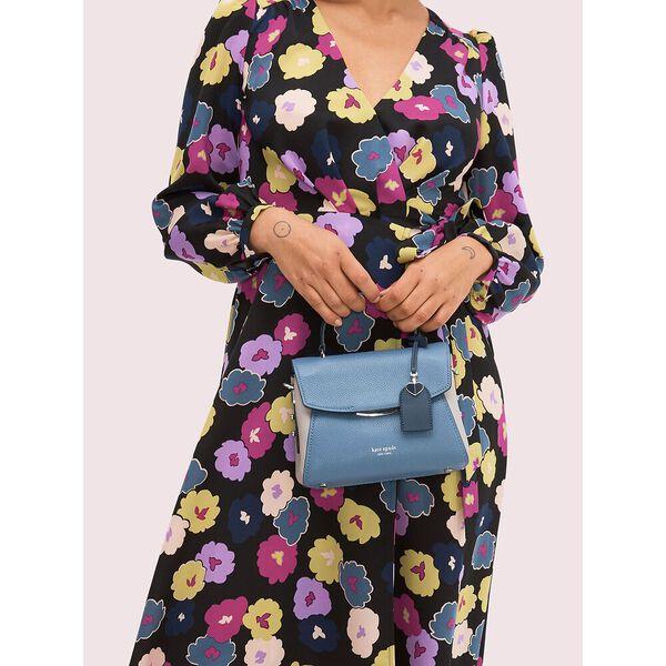 grace small top handle satchel, celestial blue multi, hi-res