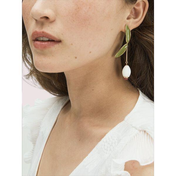 best buds linear earrings, white multi, hi-res