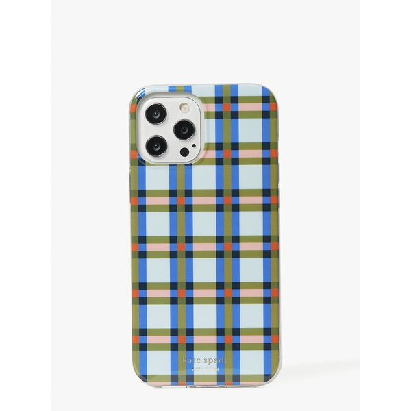 plaid iphone 12 pro max case, multi, hi-res