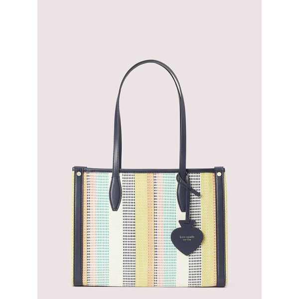 market woven stripe medium tote